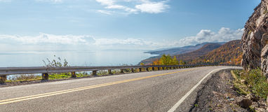 Panorama of Cabot Trail Highway Stock Photos