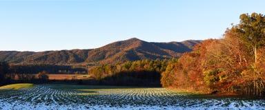 Panorama- Cades liten vik, höst Royaltyfria Bilder