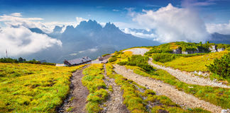 Panorama of the Cadini di Misurina range Royalty Free Stock Photography
