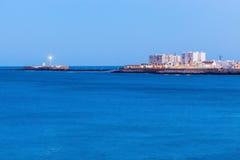 Panorama of Cadiz. At night. Cadiz, Andalusia, Spain Stock Photo
