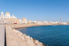 Panorama of Cadiz in Spain Stock Photography
