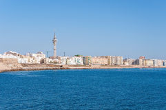 Panorama of Cadiz in Spain Stock Images