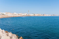 Panorama of Cadiz in Spain Royalty Free Stock Photography