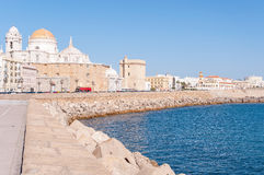 Panorama of Cadiz in Spain Royalty Free Stock Photo