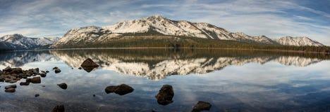 Panorama caido del lago leaf Fotografía de archivo