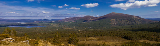 Panorama of the Cairn Gorm Area Royalty Free Stock Photo