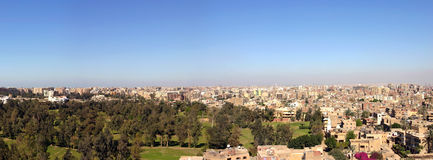 Panorama of Cairo in 2005, from the Giza Pyramids Royalty Free Stock Image