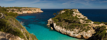 Panorama of Cala des Moro Stock Image