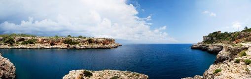 Panorama Cala-Figuera stockfotos