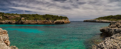 Panorama of Cala Sa Nau Stock Image