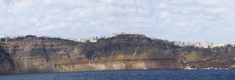 Panorama caldera. Panoramic view of Caldera, Santorini island, Greece stock photos