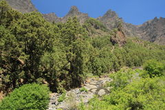 Panorama of the Caldera de Taburiente, La Palma, C Stock Photos