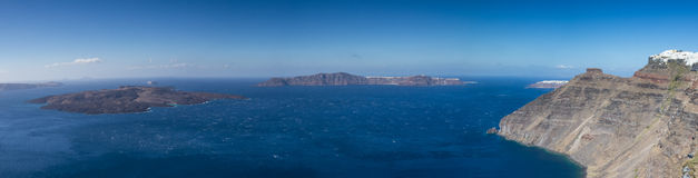 Panorama Caldera of Santorini Stock Photo