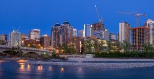 Panorama Calgary linia horyzontu wzdłuż Louise mosta Obraz Royalty Free