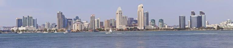 Panorama California dell'orizzonte di San Diego. Immagini Stock