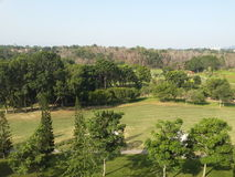 Panorama calm scenery green golf Royalty Free Stock Images