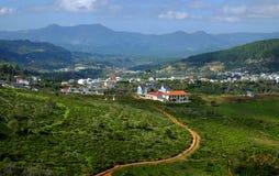 Panorama, campo de Dalat, Vietname, monte, montanha Imagem de Stock