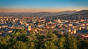 Panorama of Campobasso Stock Photography