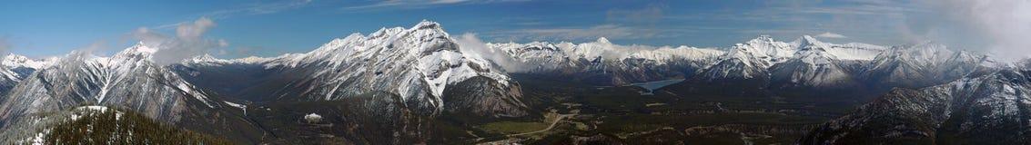 Panorama canadense de Montanhas Rochosas Fotos de Stock Royalty Free