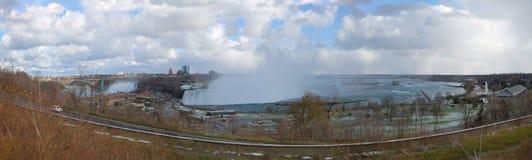 Panorama of Canadian Niagara Falls. Panorama of Niagara Falls from Canadian bank Royalty Free Stock Photography