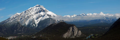 Panorama canadien des Rocheuses Image stock