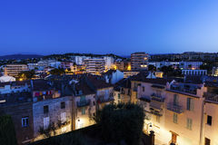 Panorama of Cannes at night Royalty Free Stock Image