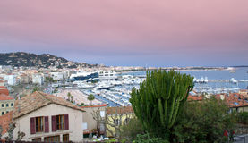 Panorama of Cannes waterfront,France Stock Images