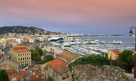 Panorama of Cannes waterfront,France Royalty Free Stock Image