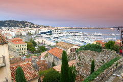 Panorama of Cannes waterfront,France Royalty Free Stock Photography