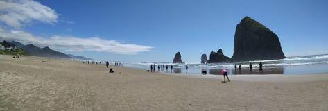 Panorama Cannon Beach in Oregon Royalty Free Stock Photos