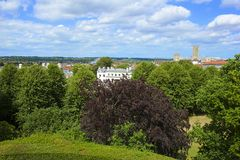 Panorama of Canterbury, UK Royalty Free Stock Photography