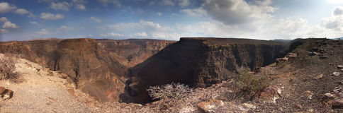 Panorama: Canyon Arta in Gibuti - Gibuti Immagine Stock Libera da Diritti