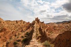 Panorama of the canyon fairytale or skazka . Panorama of the canyon fairytale or skazka , Issyk-Kul , Kyrgyzstan Royalty Free Stock Photography