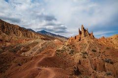 Panorama of the canyon fairytale or skazka . Panorama of the canyon fairytale or skazka , Issyk-Kul , Kyrgyzstan Stock Photo