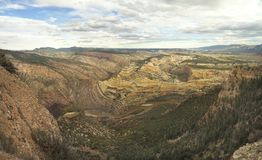 Panorama of the Canyon Formed by the Green River Dinosaur Nation Royalty Free Stock Image