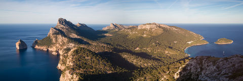 Panorama of Cap Formentor. Mallorca, Baleares, Spain Royalty Free Stock Photography