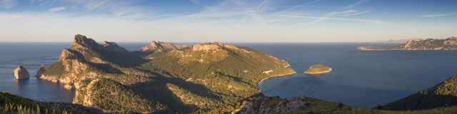 Panorama of Cap Formentor. Mallorca, Baleares, Spain Royalty Free Stock Images