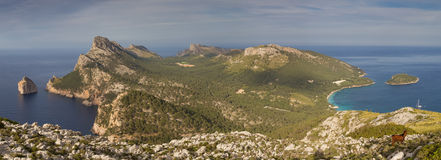 Panorama of Cap Formentor Peninsula Royalty Free Stock Images