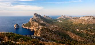Panorama of Cape Formentor Stock Photography