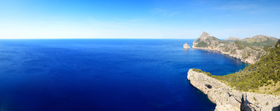 The panorama of Cape Formentor on Mallorca island. Spain Royalty Free Stock Image