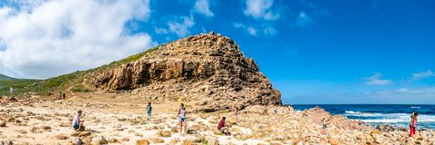Panorama - Cape of the Good Hope - South Africa.  Royalty Free Stock Photos