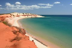 Panorama from Cape Peron. François Peron national park. Shark Bay. Western Australia. Francois Peron National Park is a national park on the Peron Peninsula stock photos