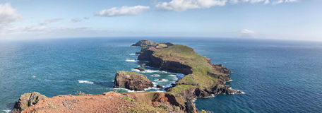 Panorama of Cape Ponta de Sao Lourenco, Madeira Royalty Free Stock Image
