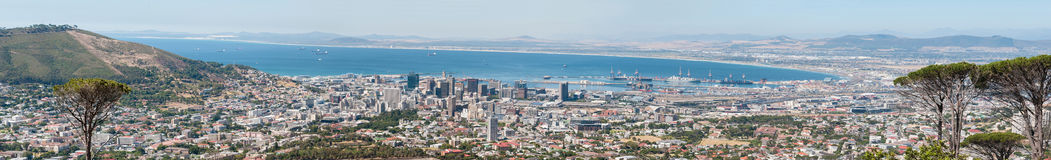 Panorama of Cape Town city center and harbor Stock Photo