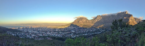 Panorama of Cape Town, Table Mountain, South Africa Royalty Free Stock Photo