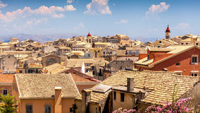 Panorama of the capital of Corfu, Greece Royalty Free Stock Photos