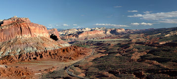 Panorama Capital Reef National Park, Utah Stock Images