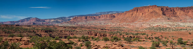Panorama of Capitol Reef National Park Stock Photo
