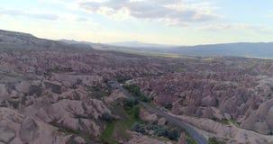 Panorama of Cappadocia stock footage
