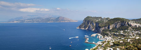 Panorama of Capri Royalty Free Stock Image